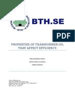 Trx Oil Test Properties