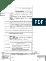 Presentación de Cuadernos