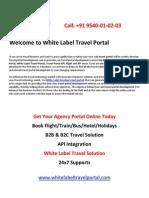 b2b & b2c White Label Travel Portal Development