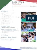 BIFS Newsletter, 2015-08-14 (English)