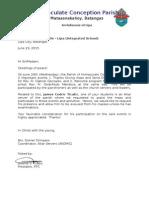 ICP-MNK Excuse Letter - De La Salle - Lipa (Integrated School)