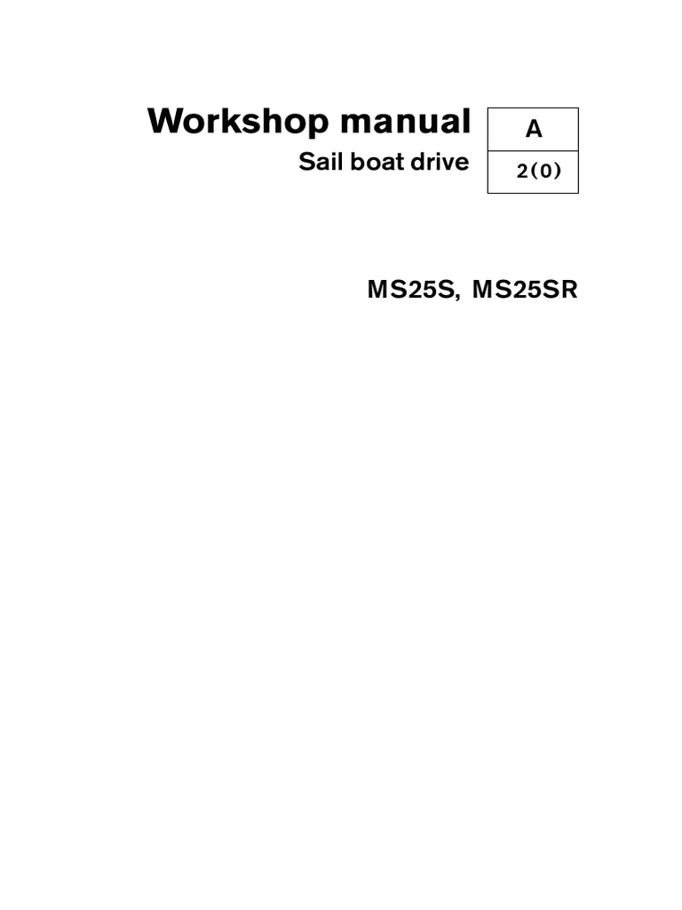 workshop manual saildrive ms25s en ms25sr nut hardware rh es scribd com