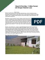 Iklan Rumah Dijual Di Pulo Mas, 11 Miliar Rumah Mewah Dengan Halaman Luas