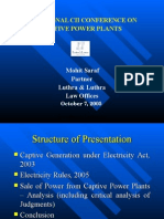 Presentation on Captive Power Plants - CII Mumbai
