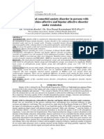 Quality of life and comorbid anxiety disorder in persons with schizophrenia, schizo-affective and bipolar affective disorder under remission