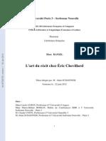 Thèse sur Éric Chevillard