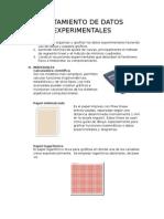 Tratamiento de Datos Experimentales