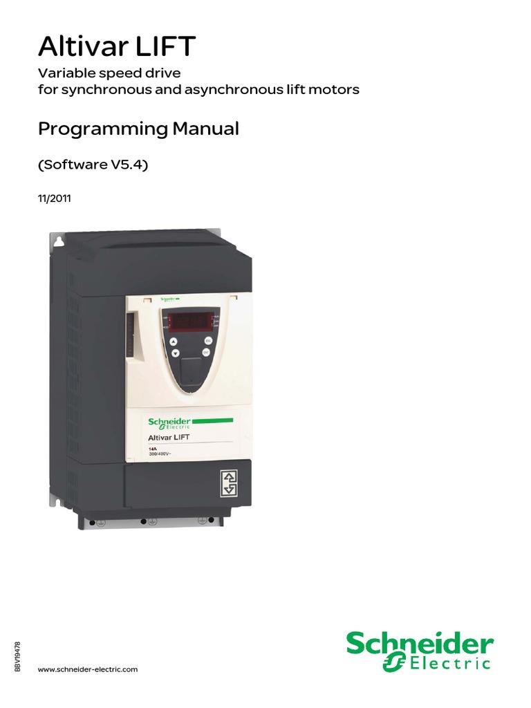 Schneider Atv Lift Menu Computing Elevator Wiring Schematic For Elevators