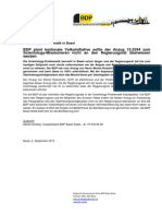 BDP Pressemitteilung September 2015