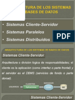 La Arquitectura de Un Sistema de Bases