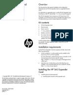 HP SAS Expander Card - Installation Instructions