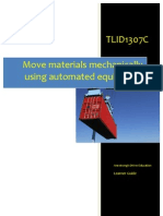 TLID1307C - Move Materials Mechanically Using Automated Equipment - Learner Guide