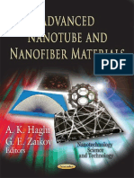 Advanced Nanotube and Nanofiber Materials