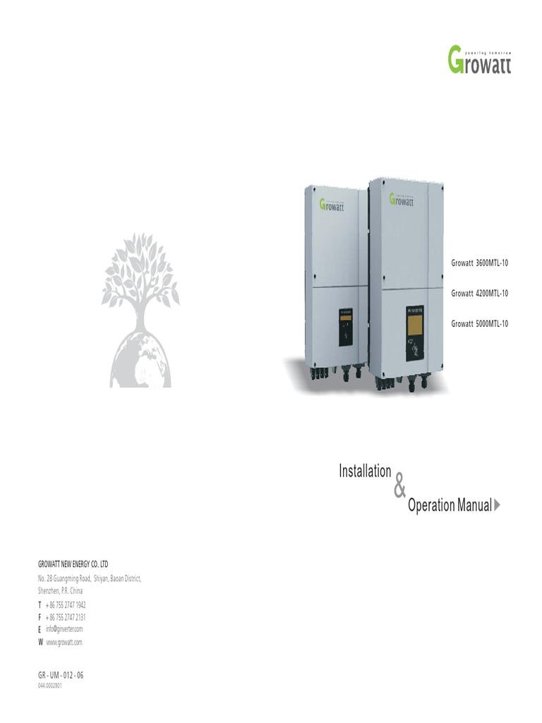 Growatt Manual Power Inverter Kilowatt Hour Solar Charge Controller Pwm Manufacturersupplier China