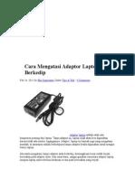 Cara Mengatasi Adaptor Laptop Berkedip
