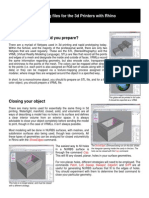 Rhino 3d Print Tutorial
