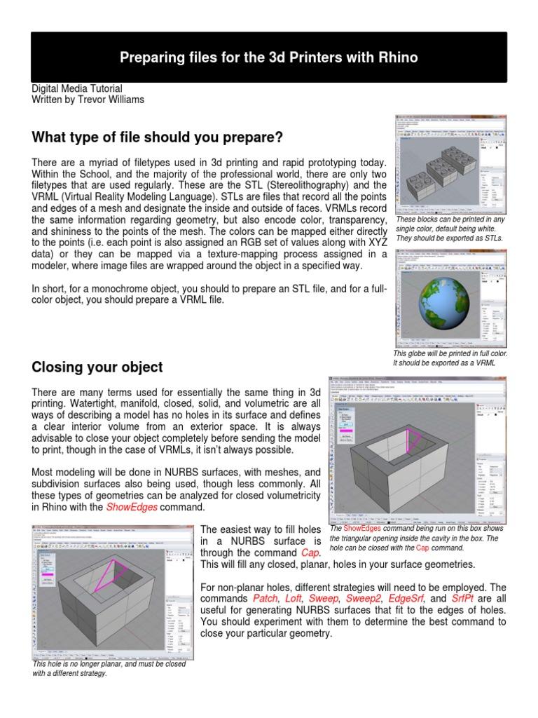 Rhino 3d Print Tutorial   Texture Mapping   Vertex (Geometry)