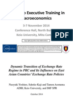 Dynamic Transition of Exchange Rate Regime in PRC and Its Influence on East Asian Countries' Exchange Rate Policies