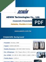 Aewin Company Profile Eng 2012Q3