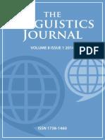 Linguistics Journal Volume 8 Issue 1 2014