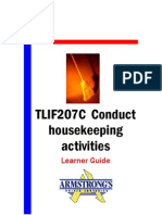 TLIF207C - Conduct Housekeeping Activities - Learner Guide