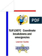 TLIF1307C - Coordinate Breakdowns and Emergencies - Learner Guide