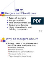 Mergers and Divestitures
