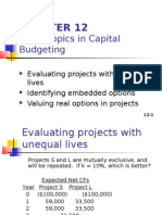 Other Topics in Capital Budgeting