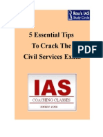 5 Essential Tips  To Crack The  Civil Services Exam