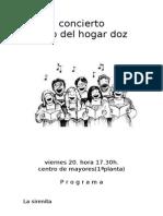 AUDICIÓN Coro Hogar Doz