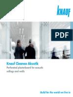 Knauf Cleaneo Akustik Brochure 2014