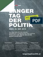 LANGER TAG DER POLITIK (Wien, 24.09.2015)
