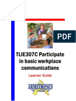 TLIE307C - Participate in Basic Workplace Communications - Learner Guide