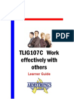 TLIG107C - Work Effectively With Others - Learner Guide