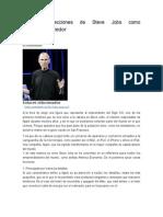 Las Seis Lecciones de Steve Jobs Como Gran