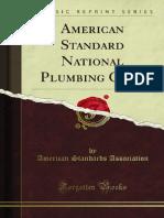 American Standard National Plumbing Code