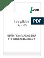 04072014 Press Finance LafargeHolcim Merger Project Announcement Presentation Uk
