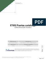 ET652 Puertas Cortafuego