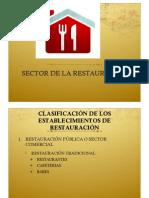 ESTABLECIMIENTOS DE RESTAURACIÓN Y CORRIENTES CULINARIAS