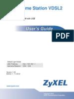 Manufacturer User Home Station VDSL2 Zyxel P8701T