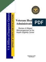 Inspector General of VA Report