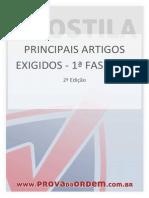 Principais Artigos Exigidos 1Fase OAB