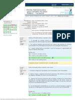 Direito Administrativo - Avaliação Final