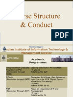 IIITM Gwalior Course Structure and Conduct