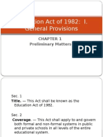 Republic Act No. 232/Education Act of 1982