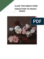 Music Video Analysis- Summer Worksheet