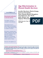 Age Descrimination in Mental Health