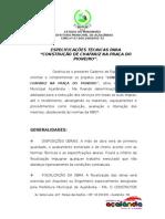 ESPECIFICAÇÕES TECNICAS .