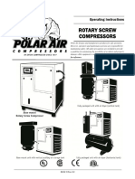 Rotary Screw Compressors - Operating Instructions Manual