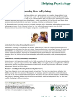 Parenting Styles in Psychology